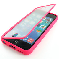 For Apple iPhone 5C Colorful TPU Wrap Up Case Cover w/ Built in Screen Protector