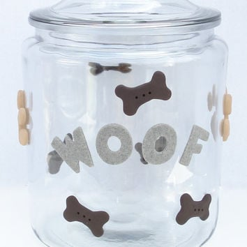 Pet food storage, Dog Food container, Dog food container, Pet food container, XL treat jar, 2 gallon glass storage jar