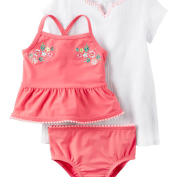 Carter's 3-Piece Tankini & Cover-Up Set