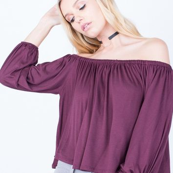 Off-the-Shoulder Flow Top