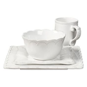 Tabletops Unlimited® Gallery Le Provence 4-Piece Place Setting in White