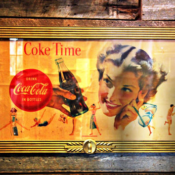 Copy of 1930's Coca-Cola Porcelain Fountain Service Sign