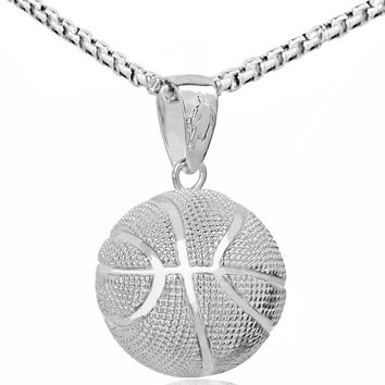 Basketball Football Soccer Volleyball Gold or Silver Plated Necklace