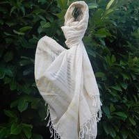 Cotton Scarf - Handwoven and Hand dyed with Ayurvedic dyes