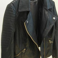 PU leather biker jacket from mancphoebe