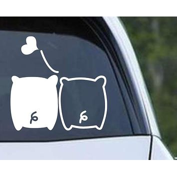 Pig Love Die Cut Vinyl Decal Sticker