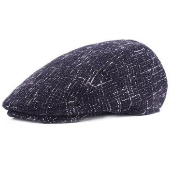 Mens Winter Warm Felt Knitted Beret Hat