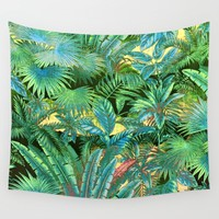tropical forest Wall Tapestry by Clemm