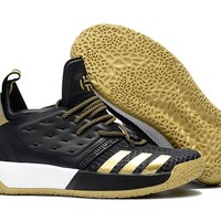 Adidas Harden Vol. 2 Black/Gold Basketball Shoes US7-11.5