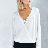 BDG Surplice-Front Top
