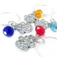 Paw Wine Charms, Wine Charms, Dog Wine Charms, Wine Glass Charms, Hostess Gift