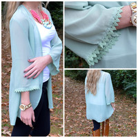 Star Gazer Mint Crochet Top