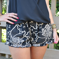 Tropical Print Ruffle Shorts - FINAL SALE