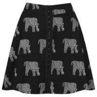 Elephant Print Skater Skirt - New In This Week  - New In