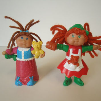 2 Cabbage Patch Kid Dolls PVC Figures 1992 1994 O.A.A.