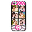 Personalized Monogrammed iPhone 5 5S 5C 4 4S Case - 6 Pictures Polka Dots Glitter Chevron - Mothers Day Gift