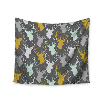 "Pellerina Design ""Scattered Deer"" Gray Wall Tapestry"