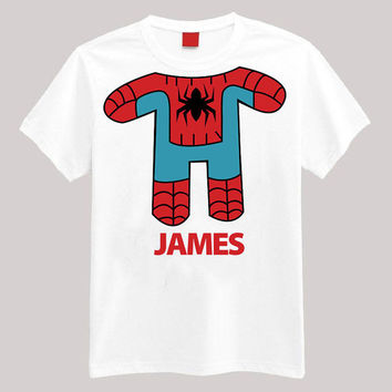 Spiderman Personalized Shirt Your Name On Shirt Headless Shirt Cartoon Body Shirt