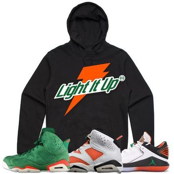 Jordan 6s Gatorade Sneaker Hoodie to Match - LIGHT IT UP