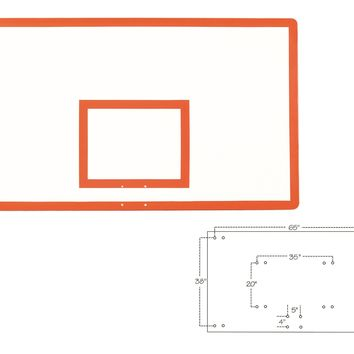 First Team Fiberglass Backboard Rectangular 42 x 72 inch-FT280