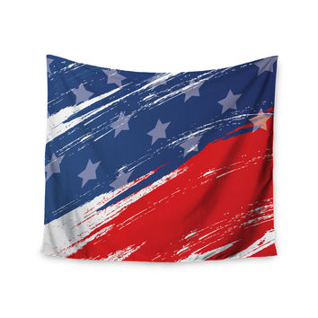 "NL designs ""Red White Blue"" Red White Wall Tapestry"