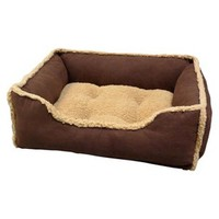 Paws and Claws Puggz Rectangular Cuddler Bed - Bark : Target