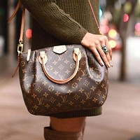 LV ladies leather shoulder bag F