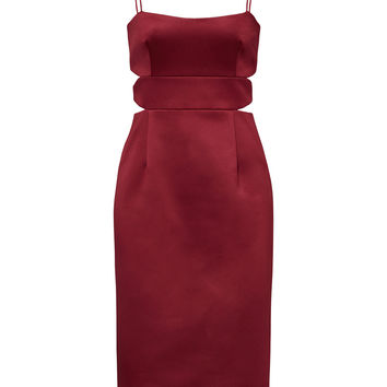Cynthia Rowley Burgundy Diamond Slash Dress