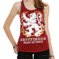 Harry Potter Gryffindor Brave At Heart Girls Tank Top