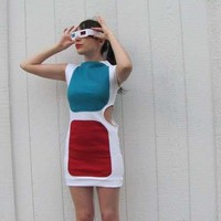 Sexy Geek-Chic Apparel - Eye-popping Cinema-Inspired 3D Glasses Dress (GALLERY)
