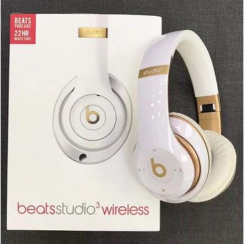 Popular Newest Beats Solo 3 Wireless Magic Sound Bluetooth Wireless Hands Headset MP3 Music Headphone With Microphone Line-in Socket TF Card Slot White I/A