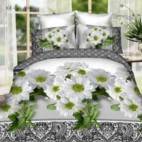 Popular 3D flower bedding sets bed set linen cotton twin queen king size duvet cover set bedlinen bedclothes adult #2