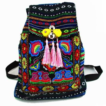 Tribal Vintage Hmong Thai Indian Ethnic Embroidery Bohemian ruck f57dc179958ff