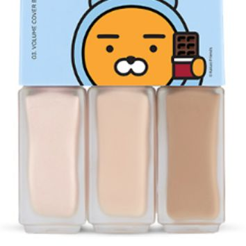 [THE FACE SHOP] Hoodie Ryan Mini Makeup Bar 03 Volume Cover Bar (Kakao Friends)