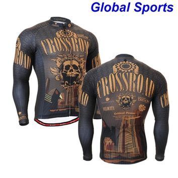 2017 gold skulls Men Cycling Jacket Breathable Bicycle Rain Jacket Wind Coat Downhill MTB Bike Jacket Cycling Clothing Ropa