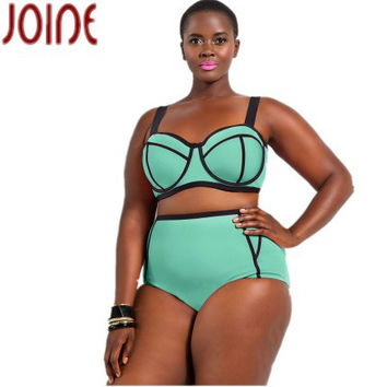Sexy high waist plus size bikini & push up swimsuit (L,5XL)
