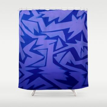 Electric Pop Shower Curtain by Ducky B