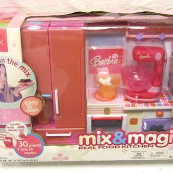 Barbie Mattel Mix & Magic Real Food Kitchen Barbie 2003 Barbie Doll Kitchen Set