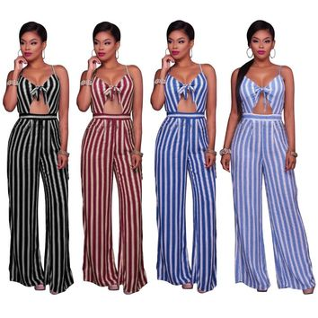 Loose Jumpsuits Backless Spaghetti Strap Wide Legs  Rompers