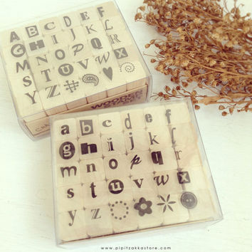 Funky Alphabet stamp set