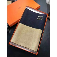 Hermes Fashionable Cashmere Color Matching Easy To Match Cape Scarf Scarves Shawl Accessories