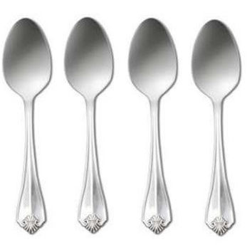 Oneida King James Silverplate Set of 4 Dinner Spoons