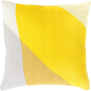 Surya Teori Throw Pillow Yellow, Yellow