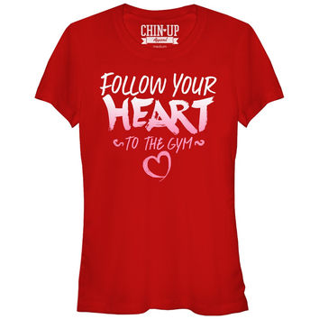 CHIN-UP RED FOLLOW YOUR HEART GYM JUNIOR SHIRT