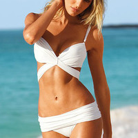 Push Up Strap Triangle Bikini Set