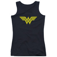 DC/WONDER WOMAN LOGO-JUNIORS TANK TOP  -BLACK
