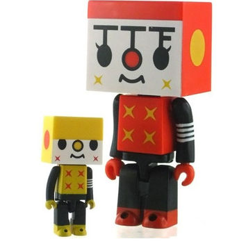 "Medicom Toy Kubrick Devilrobots Taipei Toy Festival TTF Tour De Urban Jungle To Fu 3"" Vinyl Figure Set"