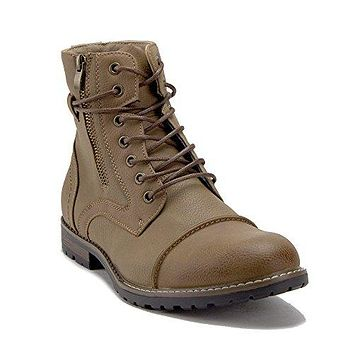 Men's 28939 Lace Up Cap Toe Military Style Combat Boots