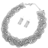 Chain Twisted Necklace Set