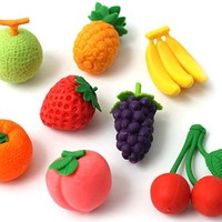 Iwako Japanese Fruit Eraser Set
